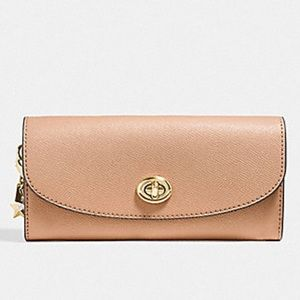 Coach Slim Envelope Wallet With Charms